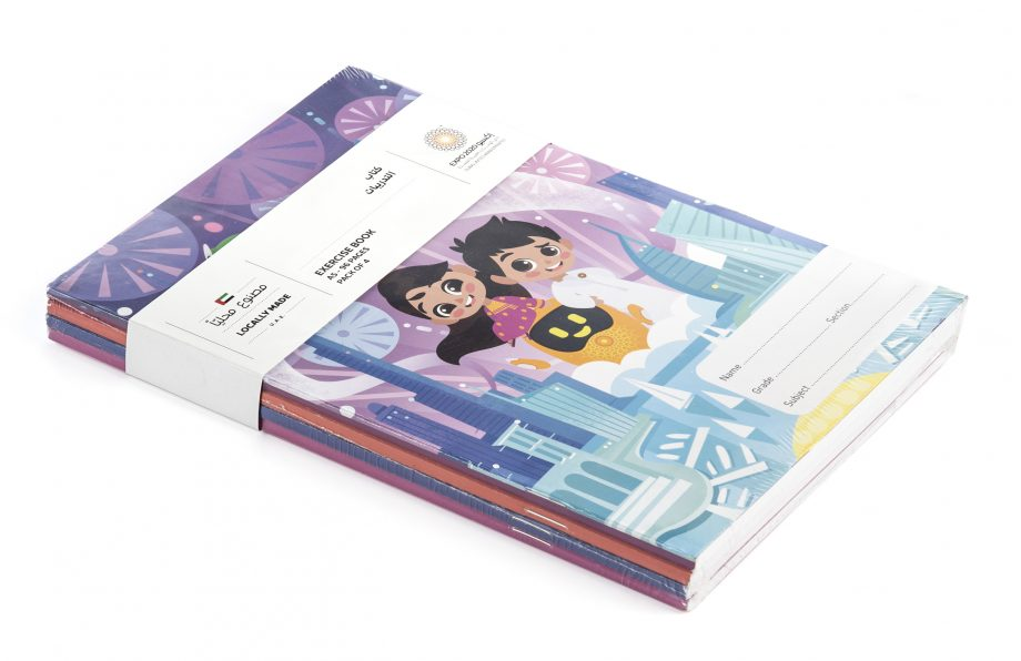 Expo 2020 Dubai Mascots On a Mission A5 Exercise Books Pack of 4 - 96 Pages