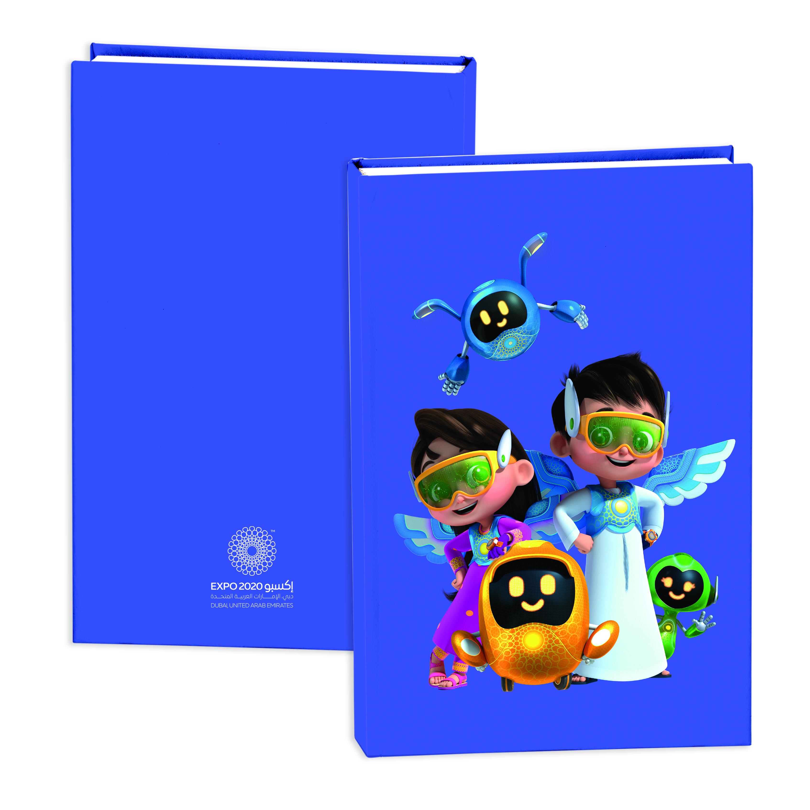 Expo 2020 Dubai Mascots A5 Hardcase Exercise Books Pack of 2 - 192 Pages - Rashid