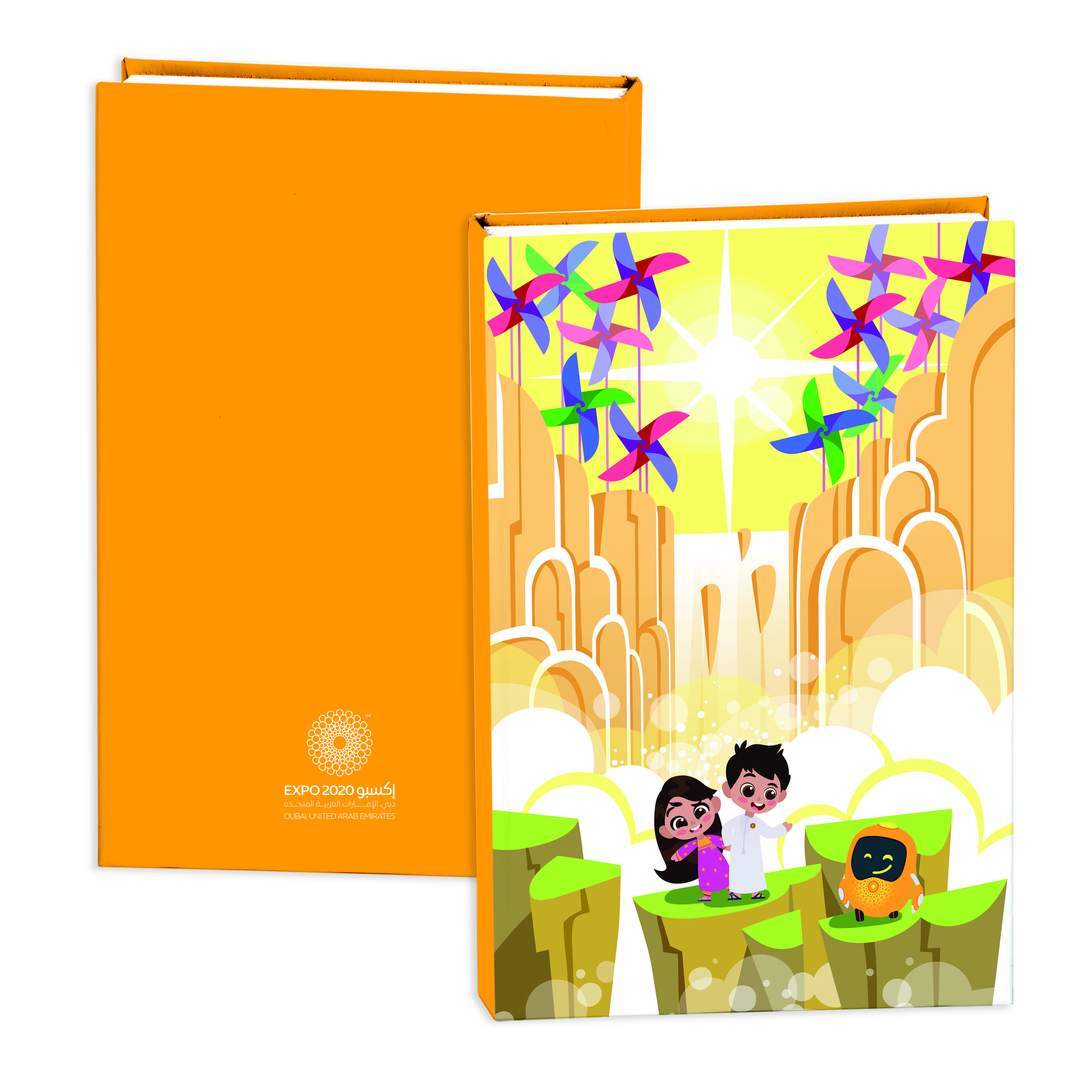 Expo 2020 Dubai Mascots B5 Hardcase Exercise Books Pack of 2 - 192 Pages