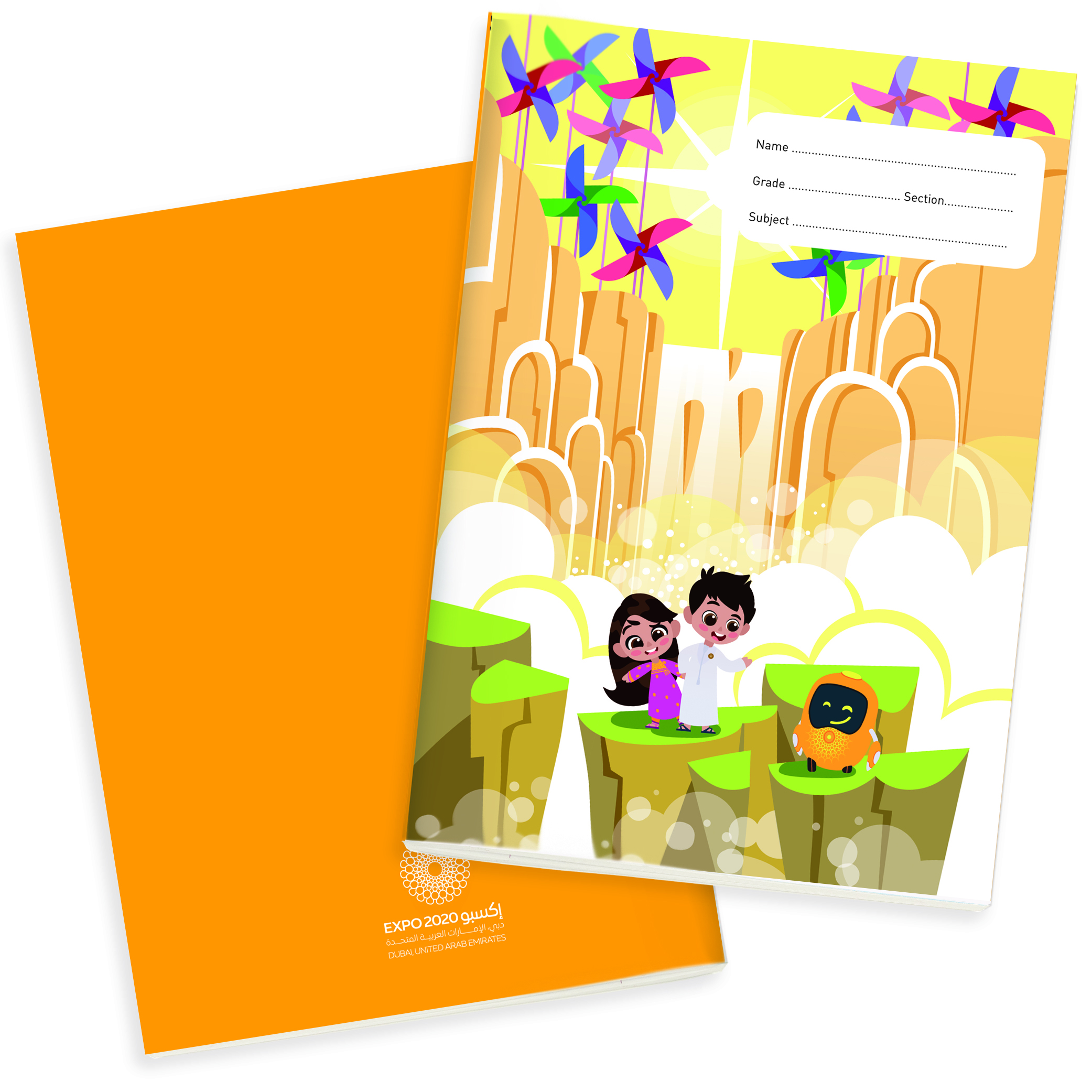 Expo 2020 Dubai Mascots B5 Exercise Books Pack of 4 - 160 Pages